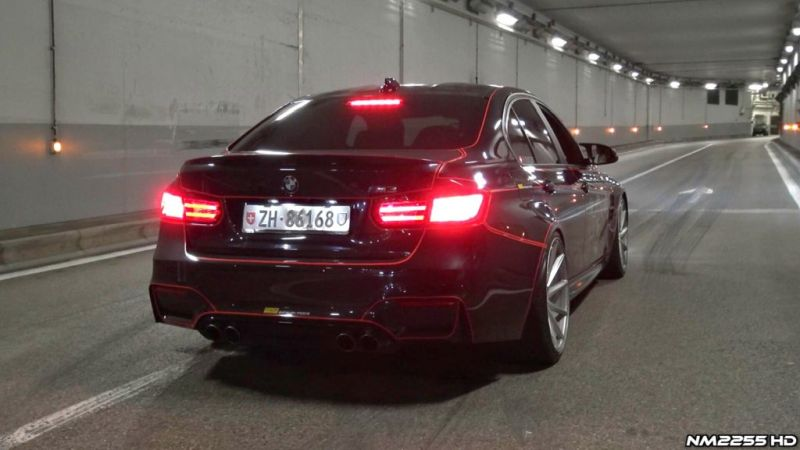 Soundcheck BMW M3 F80 mit Straight Pipes Tron Folierung Video: Soundcheck   BMW M3 F80 mit Straight Pipes & Tron Folierung