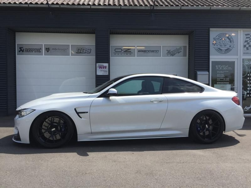 TVW Car Design BMW M4 F82 2 FACE BBS Akapovice KW Tuning 2 Fotostory: TVW Car Design BMW M4 F82 2 FACE Alufelgen