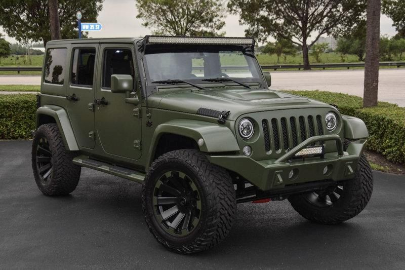 The Garage Inc Jeep Wrangler Matt Green Tuning 4