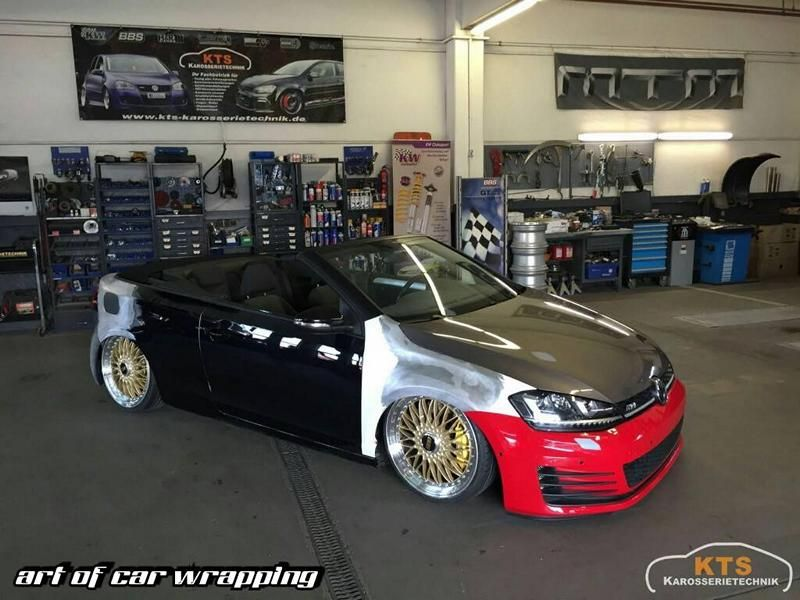 video einmalig vw golf 7 gti cabrio optik by kts. Black Bedroom Furniture Sets. Home Design Ideas