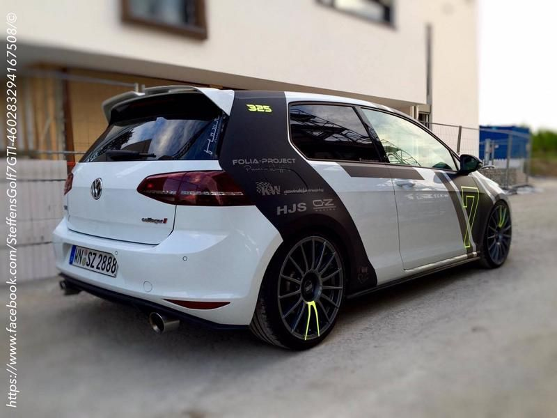 vw golf 7 gti szdesignfolierung wrap folia project tuning. Black Bedroom Furniture Sets. Home Design Ideas