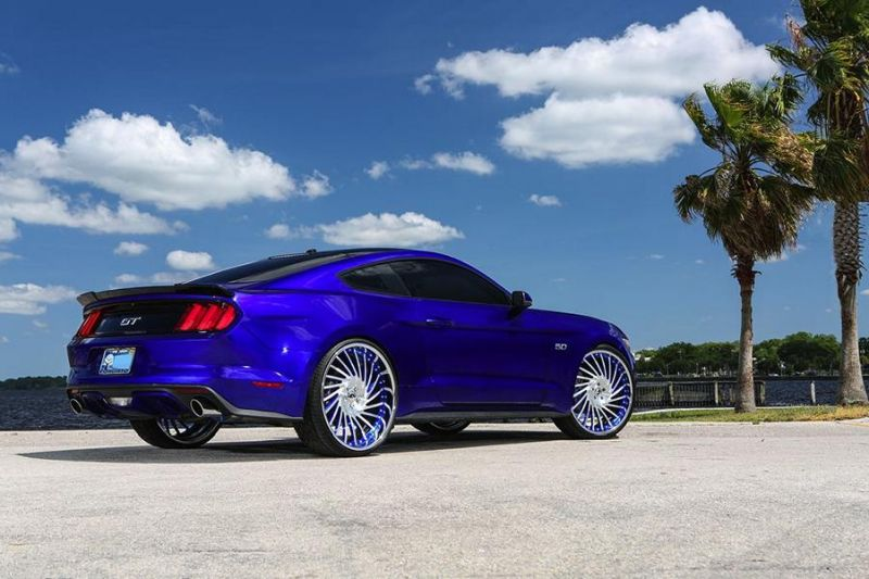 Ventoso Forgiato Wheels Alu's Ford Mustang GT Tuning 1 Ohne Worte   Riesige Forgiato Wheels Alu's am Ford Mustang GT