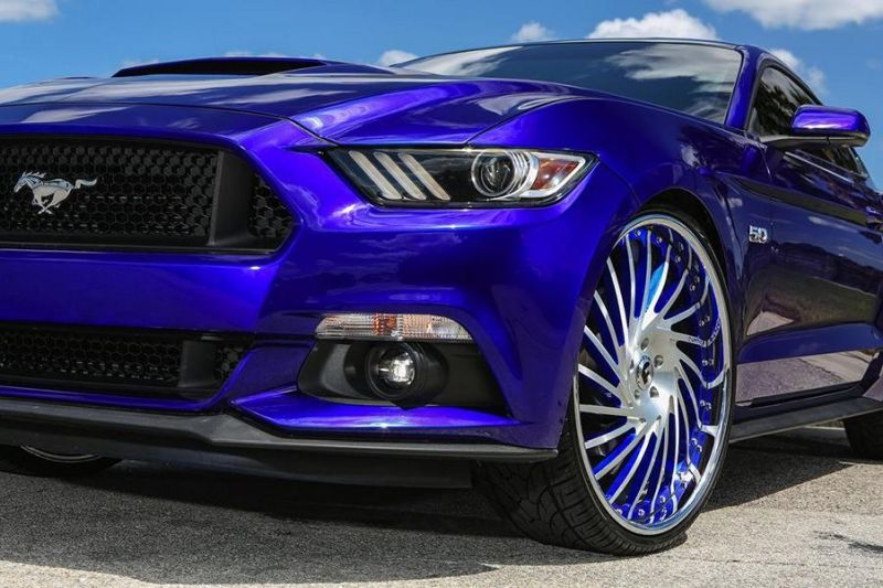 Ventoso Forgiato Wheels Alu's Ford Mustang GT Tuning 2 Ohne Worte   Riesige Forgiato Wheels Alu's am Ford Mustang GT