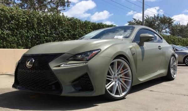 Vossen Wheels Typ VPS 307T Lexus RC F Tuning 1 Vossen Wheels VPS 307T am Lexus RC F in Mattgrün