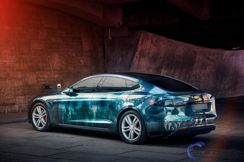 Zombie Folierung Tesla Model S by Scandinano Tuning 2 Fotostory: Zombie Folierung am Tesla Model S by Scandinano