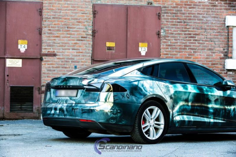 Zombie-Folierung Tesla Model S by Scandinano Tuning (4)