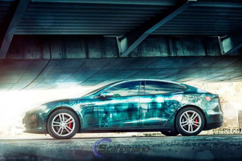 Zombie-Folierung Tesla Model S by Scandinano Tuning (6)