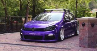 slammed VW Golf 7 MK7 R Purple Black tuningblog.eu  1 e1464714912911 310x165 VW Golf MK7 mit A6 C7 Facelift Scheinwerfern by tuningblog