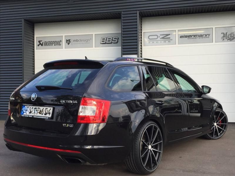 20 zoll deluxe wheels kw 2 im skoda octavia rs by tvw. Black Bedroom Furniture Sets. Home Design Ideas