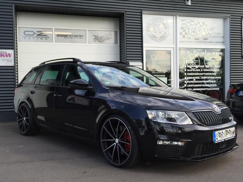 20 inch deluxe wheels & kw 2 the skoda octavia rstvw