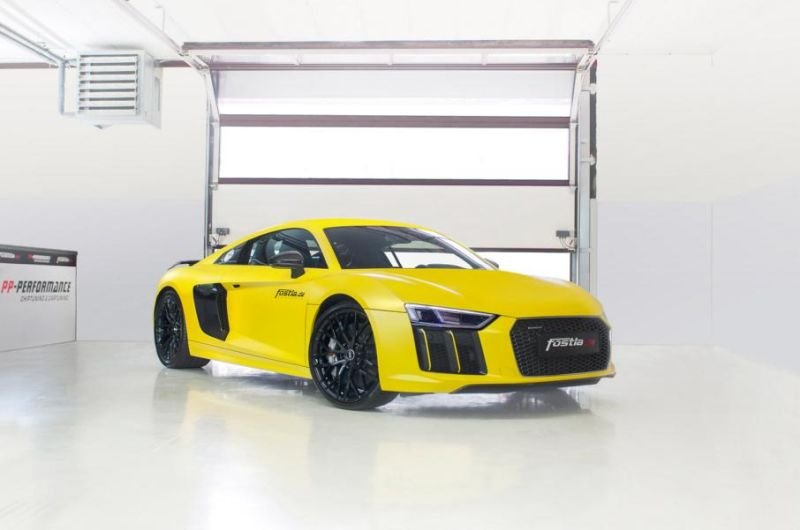 2016 Audi R8 V10 Plus Sunflower matt metallic Gelb fostla tuning wrap (10)