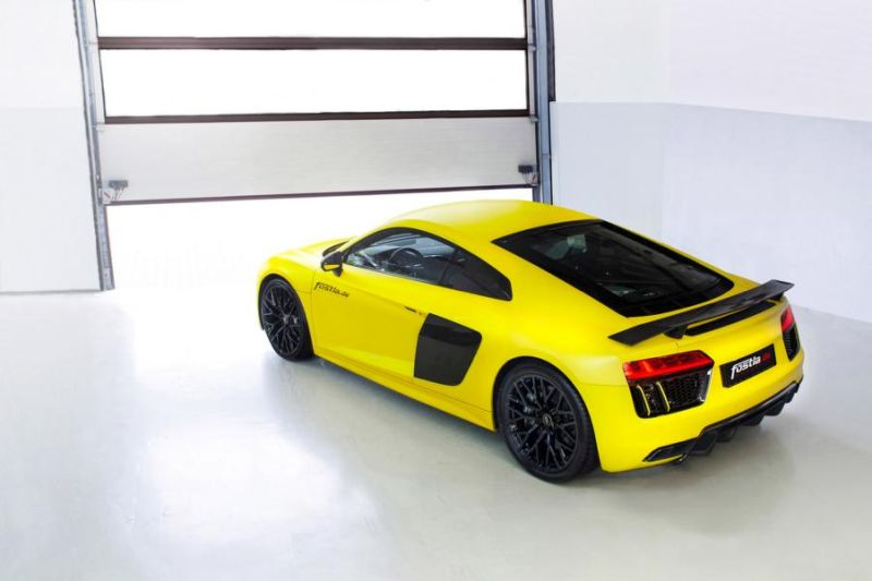 2016 Audi R8 V10 Plus Sunflower matt metallic Gelb fostla tuning wrap (11)