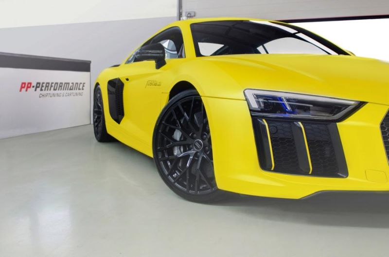 2016 Audi R8 V10 Plus Sunflower matt metallic Gelb fostla tuning wrap (2)