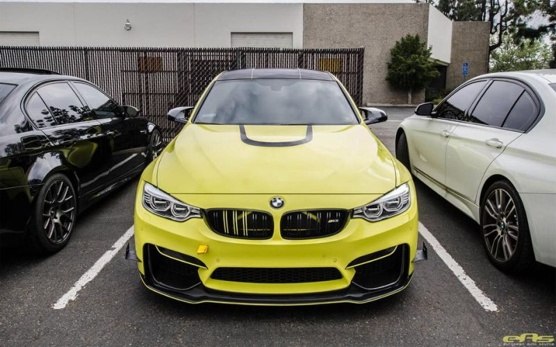 Ambulance Yellow BMW M3 F80 EAS Tuning (1)