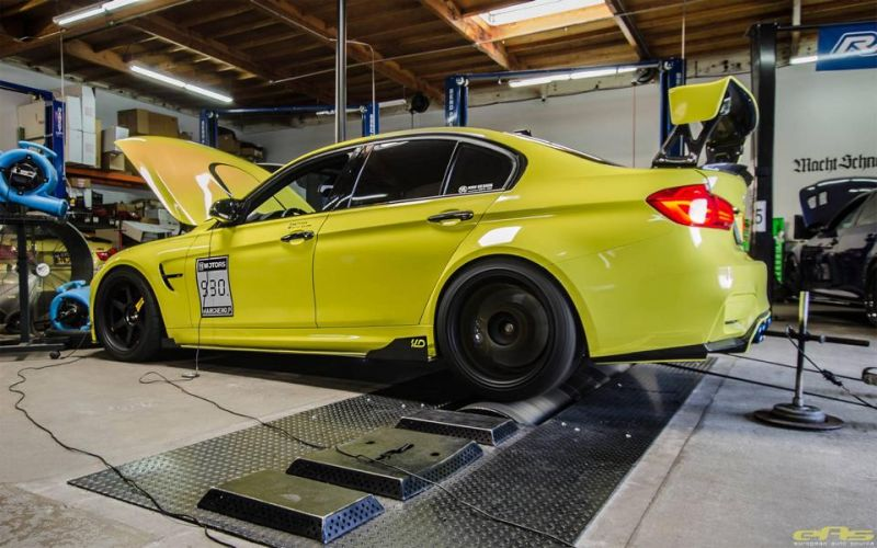 Ambulance Yellow BMW M3 F80 EAS Tuning (10)