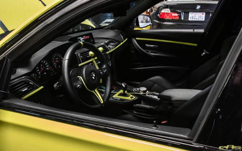 Ambulance Yellow BMW M3 F80 EAS Tuning (13)