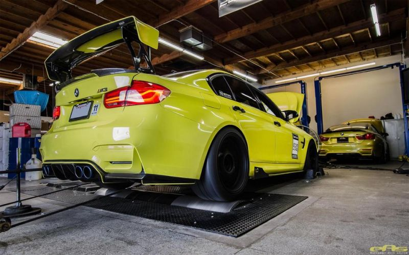 Ambulance Yellow BMW M3 F80 EAS Tuning (14)