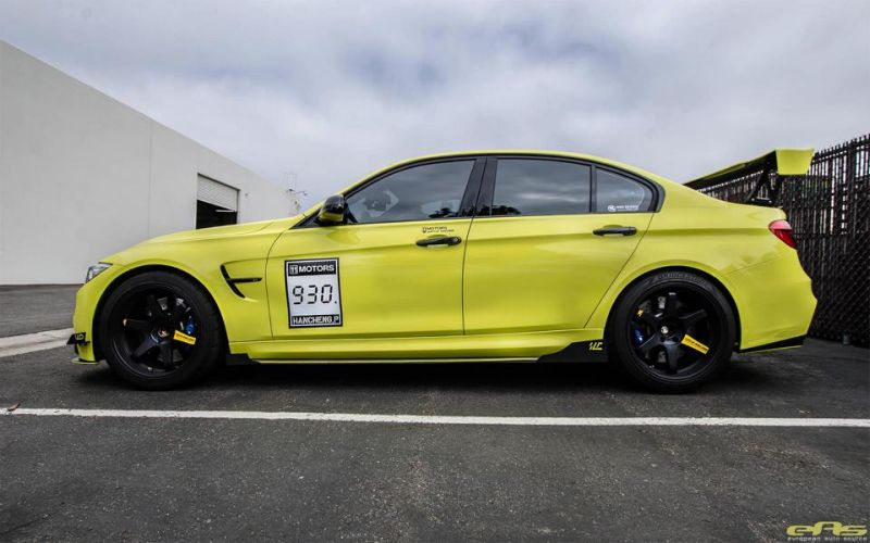 Ambulance Yellow BMW M3 F80 EAS Tuning (4)