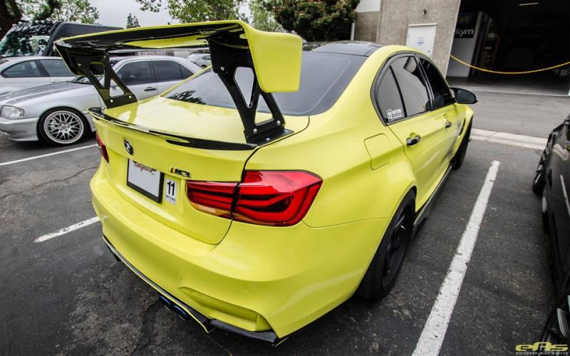 Ambulance Yellow BMW M3 F80 EAS Tuning (7)