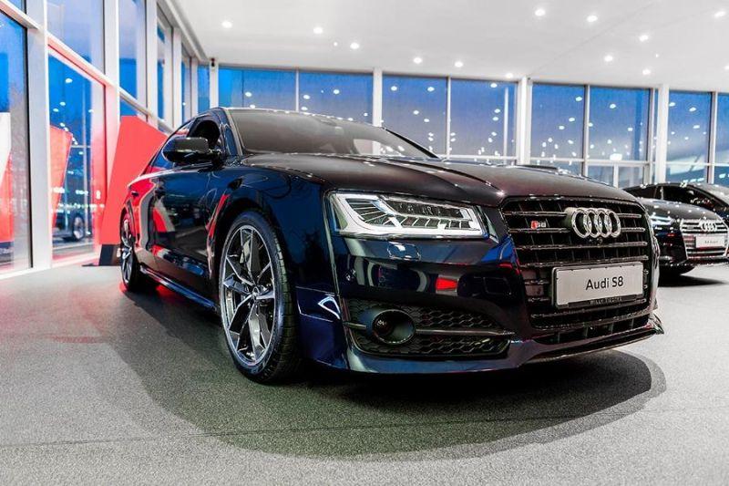 Audi A8 S8 Plus 2016 tuningblog.eu 1 2016er Audi A8 S8 Plus mit Tieferlegung by tuningblog.eu