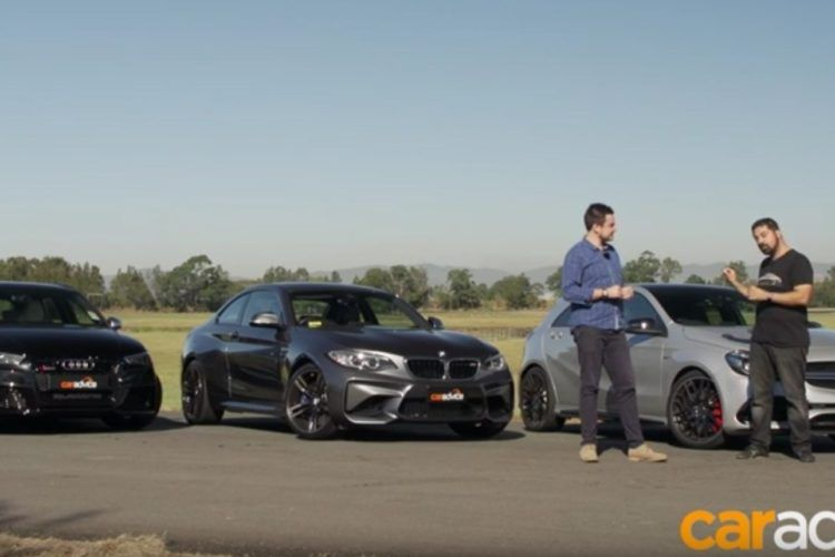 Audi RS3 vs. Mercedes A45 AMG vs. BMW M2 F87 Video: Audi RS3 vs. Mercedes A45 AMG vs. BMW M2 F87