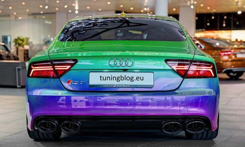 Audi Rs7 In Flipflop With 4 Pipe Rs7 Sports Exhaust System