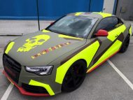 BB Folien Bele Bo%C5%A1tjan Audi A5 S5 Coupe Skull Neon Fluorescent Tuning Folierung 18 190x143 Neues Outfit   BB Folien Bele Boštjan Audi A5 S5 Skull Folierung