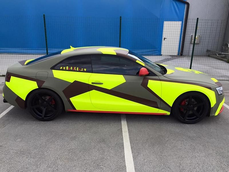 BB Folien Bele Bo%C5%A1tjan Audi A5 S5 Coupe Skull Neon Fluorescent Tuning Folierung 3 Neues Outfit   BB Folien Bele Boštjan Audi A5 S5 Skull Folierung