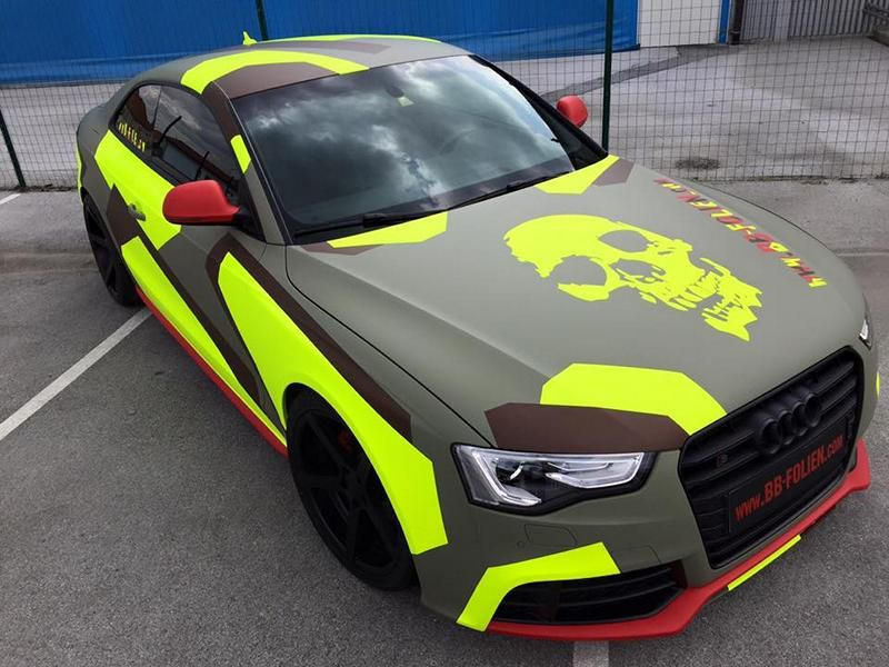 BB Folien Bele Bo%C5%A1tjan Audi A5 S5 Coupe Skull Neon Fluorescent Tuning Folierung 33 Neues Outfit   BB Folien Bele Boštjan Audi A5 S5 Skull Folierung