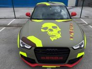 BB Folien Bele Bo%C5%A1tjan Audi A5 S5 Coupe Skull Neon Fluorescent Tuning Folierung 6 190x143 Neues Outfit   BB Folien Bele Boštjan Audi A5 S5 Skull Folierung