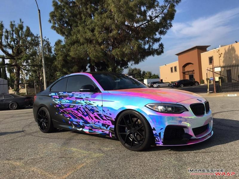 BMW M235i F22 Coupe Impressive Wrap Chromfolierung mehrfarbig Tuning 3 Crazy Style   BMW M235i F22 Coupe by Impressive Wrap