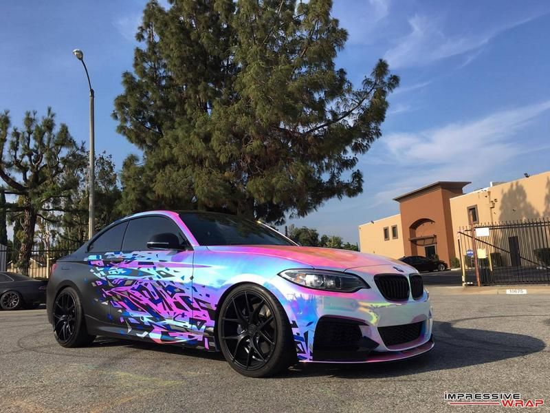 BMW M235i F22 Coupe Impressive Wrap Chromfolierung mehrfarbig Tuning 4 Crazy Style   BMW M235i F22 Coupe by Impressive Wrap