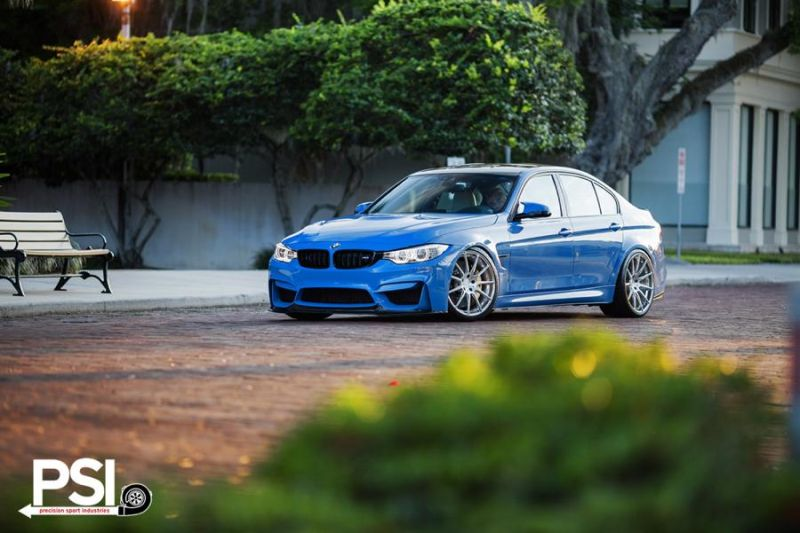 BMW M3 F80 Yas Marina Blau Blue Tuning PSI Precision Sport Industries 1 BMW M3 F80 in Yas Marina Blau by Precision Sport Industries