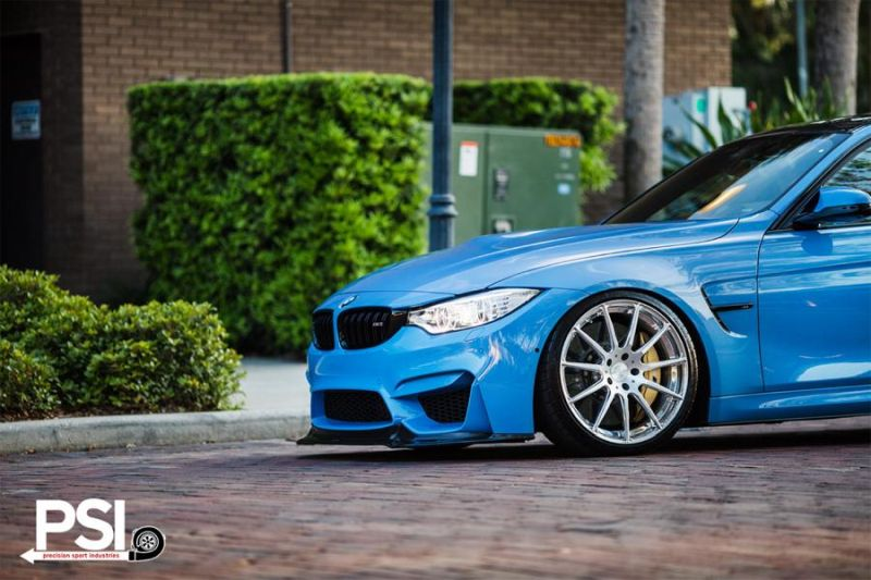BMW M3 F80 Yas Marina Blau Blue Tuning PSI Precision Sport Industries 2 BMW M3 F80 in Yas Marina Blau by Precision Sport Industries