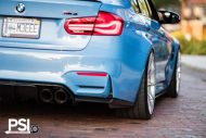 BMW M3 F80 Yas Marina Blau Blue Tuning PSI Precision Sport Industries 3 190x127 BMW M3 F80 in Yas Marina Blau by Precision Sport Industries