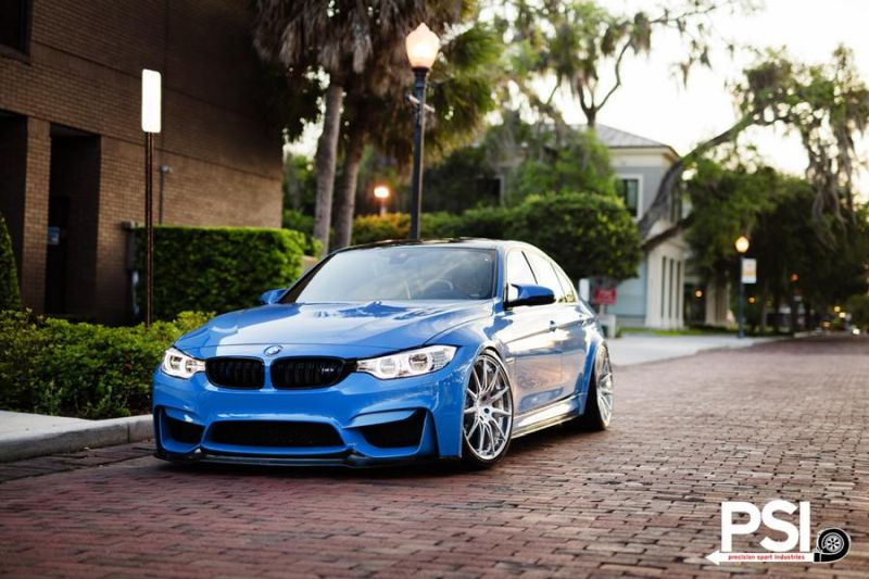 BMW M3 F80 Yas Marina Blau Blue Tuning PSI Precision Sport Industries (5)