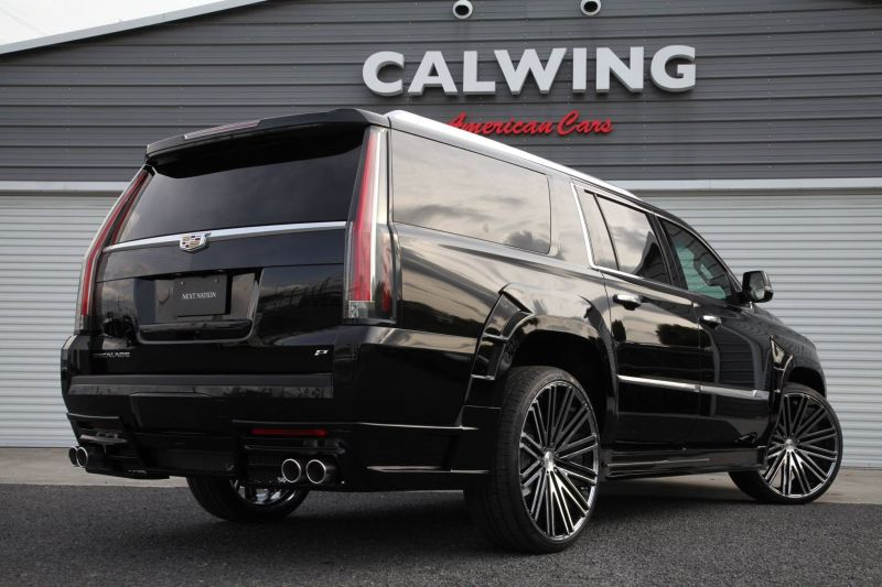 Calwing Body Kit 26 Zoll Forgiato Wheels Alufelgen Cadillac Escalade Tuning 1 Calwing Body Kit & 26 Zoll Alufelgen am Cadillac Escalade
