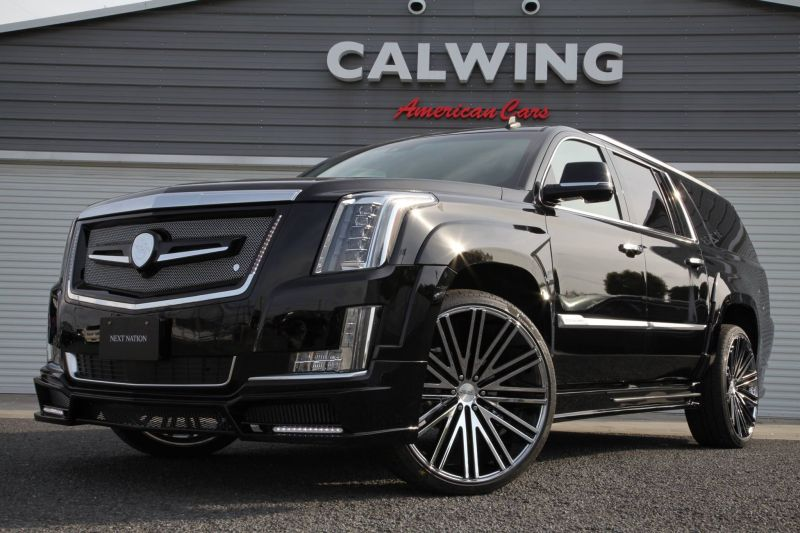 Calwing Body Kit 26 Zoll Forgiato Wheels Alufelgen Cadillac Escalade Tuning 4 Calwing Body Kit & 26 Zoll Alufelgen am Cadillac Escalade