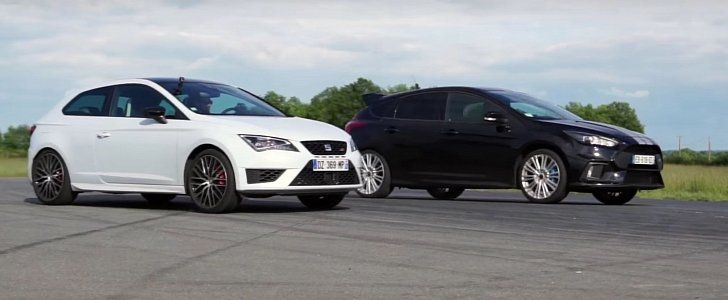 Dragerace Ford Focus RS gegen Seat Leon Cupra 290 Video: Dragerace   Ford Focus RS gegen Seat Leon Cupra 290