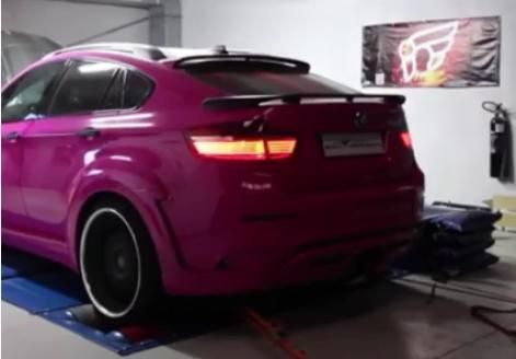 Hamann Pink Tycoon Bodykit BMW X6M by Simon Motorsport Tuning 1 Video: Flammenwerfer BMW X6M mit 666PS by Simon Motorsport
