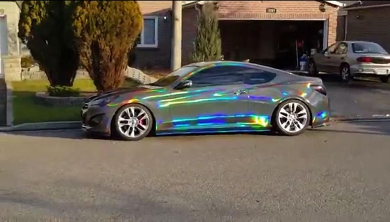 video hyundai genesis coupe mit chrom reflektierender folierung magazin. Black Bedroom Furniture Sets. Home Design Ideas