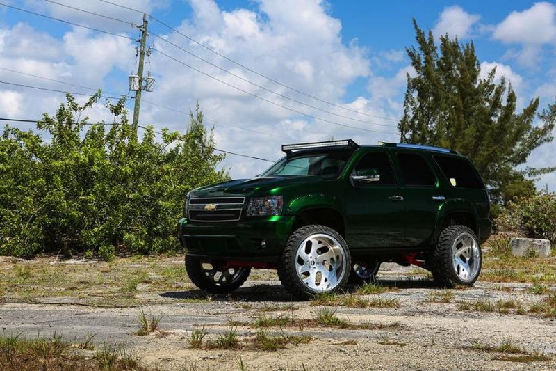 Kandy Green Candygreen Chevrolet Tahoe Forgiato Wheels 3 Darfs etwas mehr sein? Chevrolet Tahoe von Forgiato Wheels