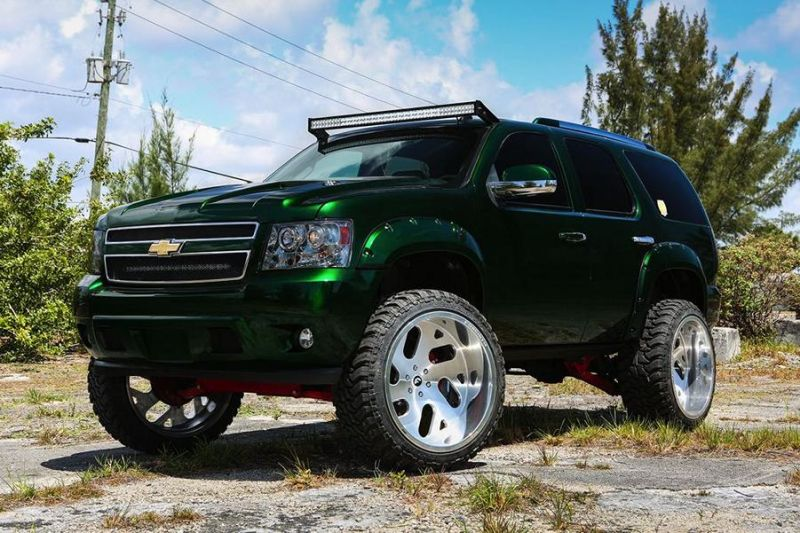 Kandy Green Candygreen Chevrolet Tahoe Forgiato Wheels 4 Darfs etwas mehr sein? Chevrolet Tahoe von Forgiato Wheels
