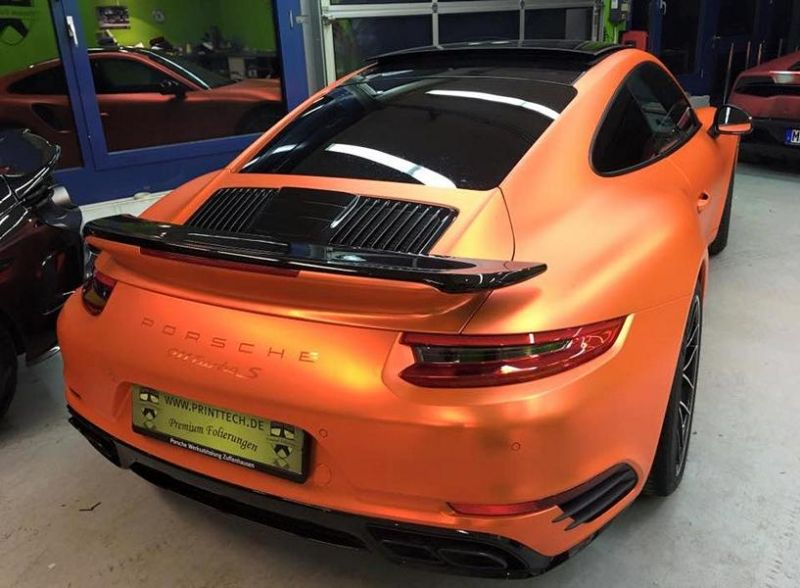 Orange Chrome Porsche 911 Turbo Mk II by Print Tech Tuning 4 Auffällig   Orange Chrome Porsche 911 Turbo Mk II by Print Tech