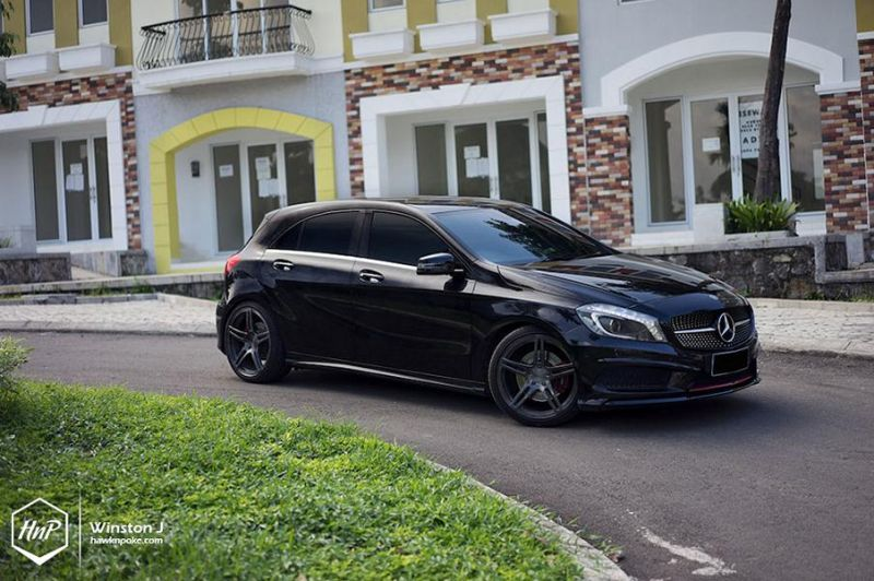 Rennen Forged T5 Tuning Wheels W176 Mercedes Benz A250 A Klasse 3 Rennen Forged Wheels am Mercedes Benz A250 (A Klasse)