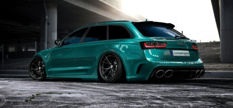 Slammed Widebody Audi RS6 C7 Avant tuningblog.eu  Widebody Audi RS6 C7 Avant tuningblog.eu