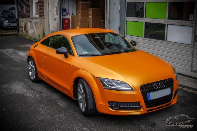 Sunrise Metallic Organge Check Matt Dortmund Audi TT Tuning 8S 1 Sunrise Metallic Orange am Check Matt Dortmund Audi TT