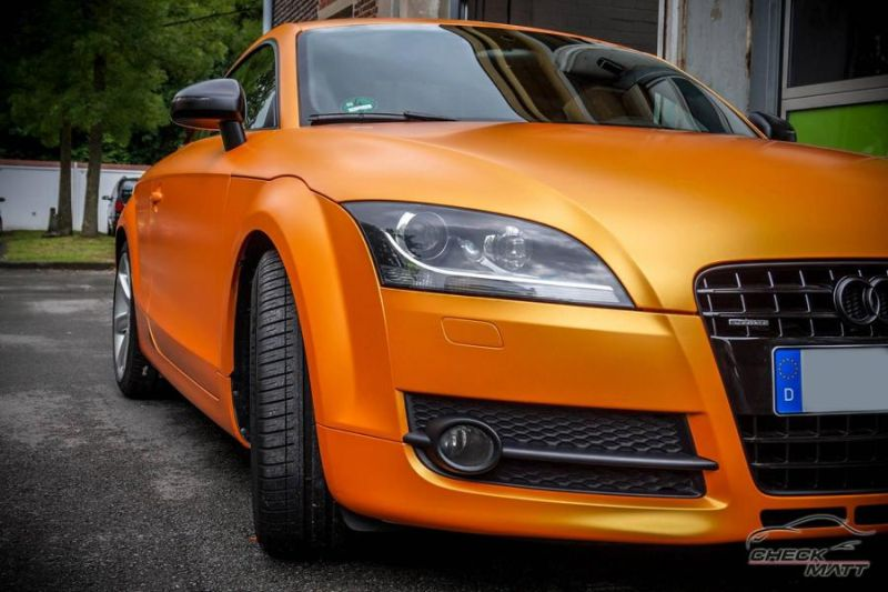 Sunrise Metallic Organge Check Matt Dortmund Audi TT Tuning 8S 3 Sunrise Metallic Orange am Check Matt Dortmund Audi TT
