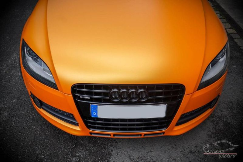 Sunrise Metallic Organge Check Matt Dortmund Audi TT Tuning 8S 4 Sunrise Metallic Orange am Check Matt Dortmund Audi TT