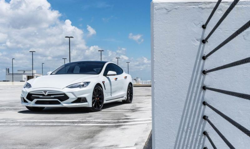 Tesla Model S P90D Facelift Tuning Elizabeta Bodykit 2 Foto & Video: Tesla Model S P90D Facelift mit Elizabeta Bodykit